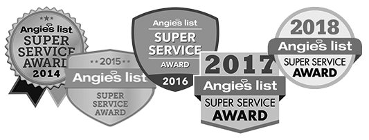 Angie's List Super Service Award - 5 times!