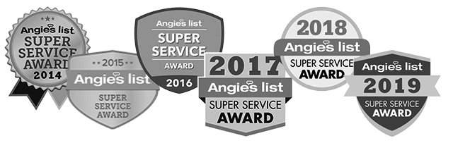 Angie's List Super Service Award grayscale logo 2020