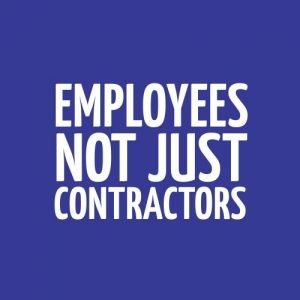 home page button: employees, not contractors