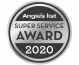 Angie's List Super Service Award - 7 times! Grayscale Image.