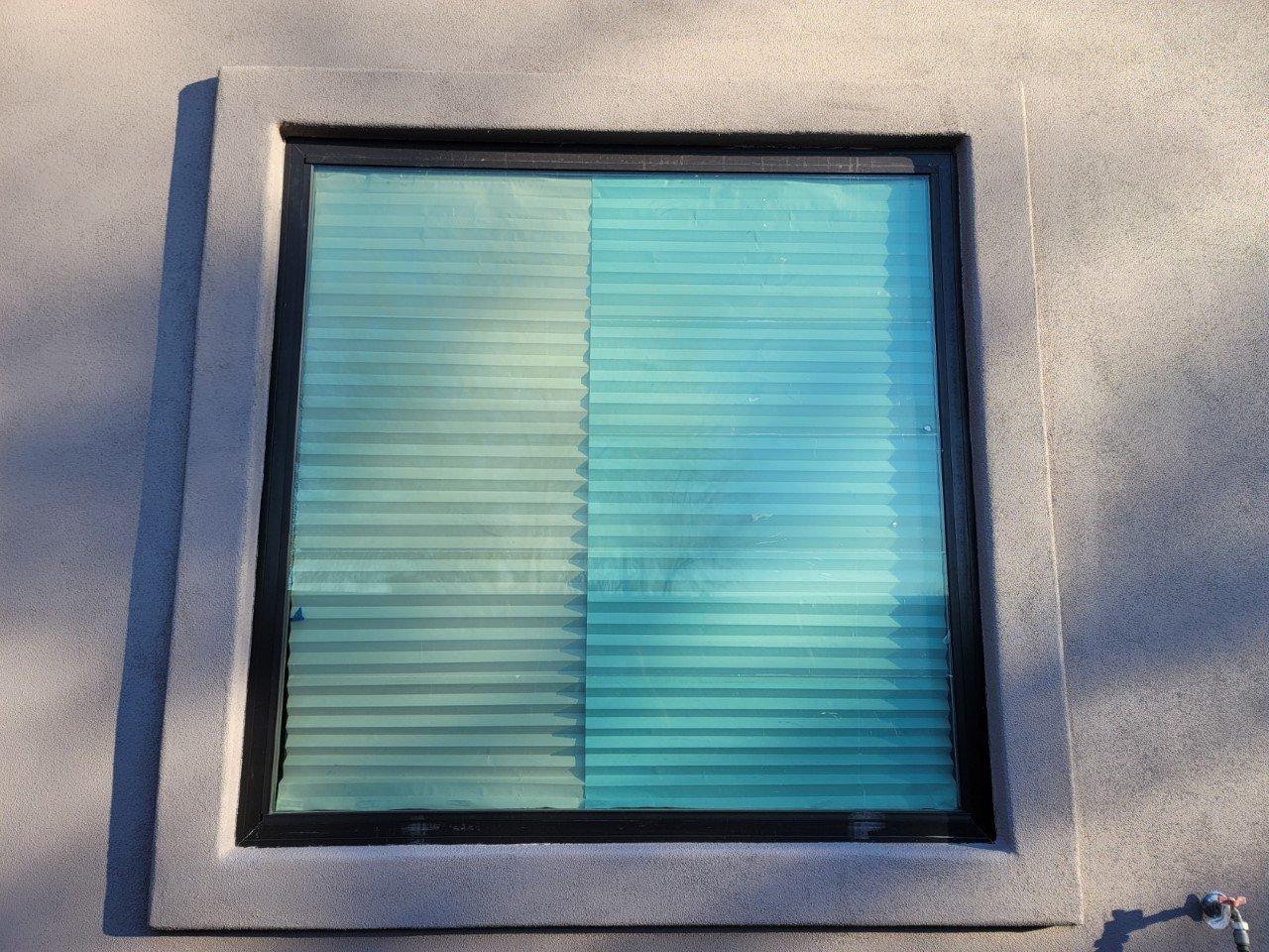 Green tinted windows